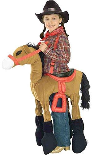 Forum Novelties Children's Costume Ride A Pony - Brown, (Horse Girl Costume)