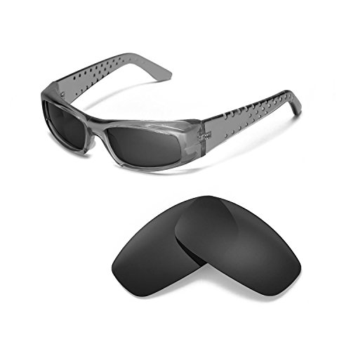 Walleva Replacement Lenses for Spy Optic MC Sunglasses - Multiple Options Available (Black - - Mc Sunglasses Spy