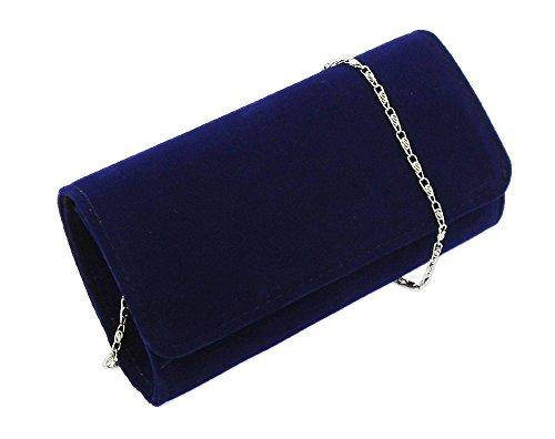 AITING Women's Evening Party Wedding Ball Prom Clutch Wallet Handbag (Velvet Navy Blue), -