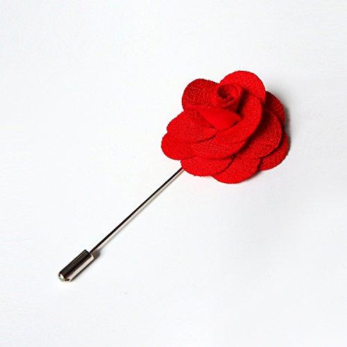 RareLove 3pcs Wedding Rose Boutonniere Lapel Pins Set For Men Flower White Red Blue (Green 5pcs) by RareLove (Image #3)