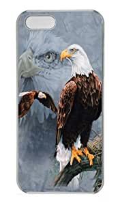 Eagle Collage PC Case Cover for iPhone 5 and iPhone 5s Transparent