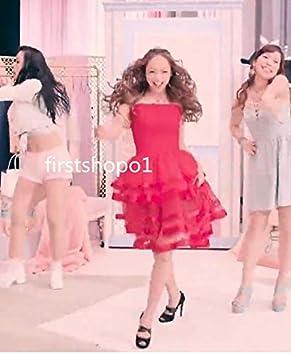安室奈美恵 birthday ピンク 赤い ドレス コスプレ衣装+髪飾り