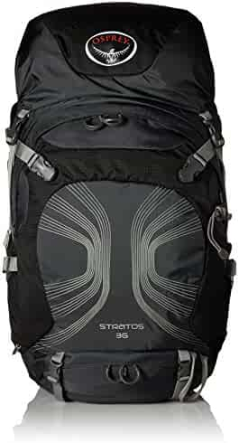Osprey Packs Stratos 36 Backpack (2016 Model), Anthracite Black, Medium/Large