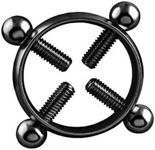Nipple ring Adjustable Screw Non-Piercing Fake Piercing Sale Shield Jewelry D7B6