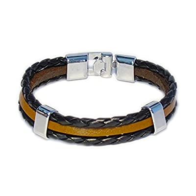 AUTHENTIC HANDMADE Leather Bracelet, Men Women Wristbands Braided Bangle Craft Multi [SKU001748]
