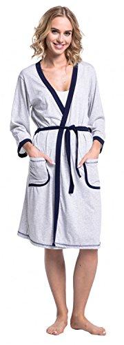 Happy Camicia Donna Notte Mama Pr Vestaglia rqtAwrfF