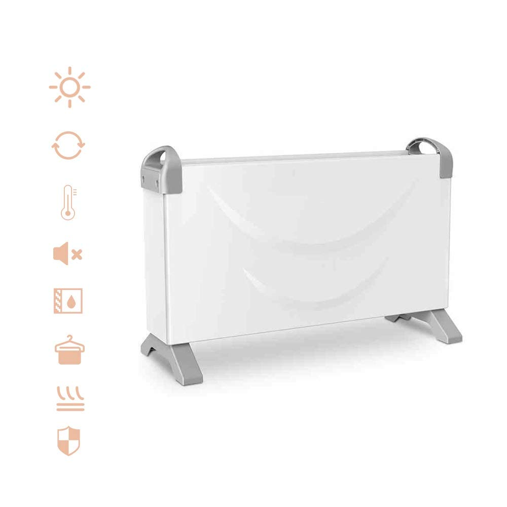 AGLZWY Convector Radiator Heater Adjustable Thermostat 3 Heat Settings 750/1250/2000 W Electrical Heating Stand Fan For Indoor Office Tent (Color : White-220V)