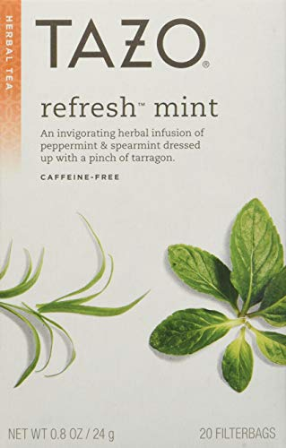 (Tazo All Natural Herbal Infusion Tea, Refresh Mint, 2 Count)