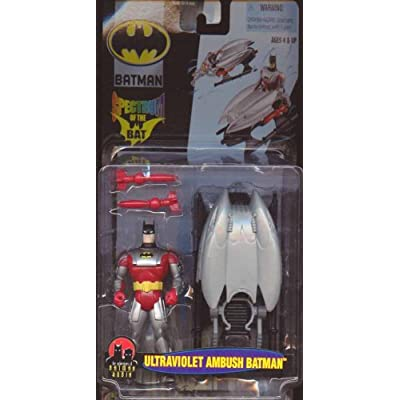 Batman: Spectrum of the Bat Ultraviolet Ambush Batman Action Figure: Toys & Games