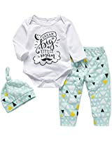 Baby Boy Clothes Funny Letter Printed Tops...