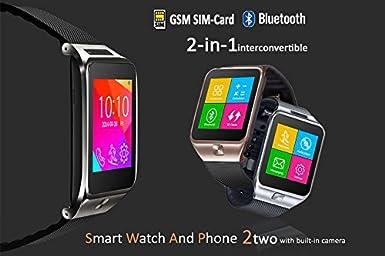 Amazon.com: Indigi SWAP2 (Smart Watch And Phone) Bluetooth ...