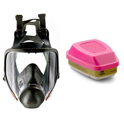 3M Full Facepiece Reusable Respirator 6900, Respiratory Protection, Large (Pack of 1) and Multi Gas/Vapor Cartridge/Filter 60926, P100 Respiratory Protection  (Pack of 2) bundle