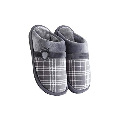 Cotton Slippers Td Grigio Taglia Autumn Colore Indoor da Home Trailwear Warm Uomo Slip 41 Winter Marrone 42 uomo FtFAEq