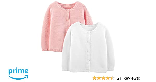 9cfa14453 Amazon.com  Simple Joys by Carter s Baby Girls  2-Pack Knit Cardigan ...