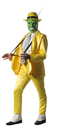[Tabis Characters Jim Carrey The Mask Tuxedo Complete Costume with Mask XX-Large] (Yellow Zoot Suit)