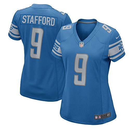 Nike Women's Matthew Stafford Detroit Lions Game Jersey - Blue (Medium)