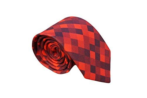 Red Rage Pixelated Skinny Neck Tie for - Pixelated Tie