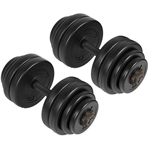 Best Choice Products 64LB Weight Dumbbell Set Adjustable Cap Gym Barbell Plates Body Workout by Best Choice Products