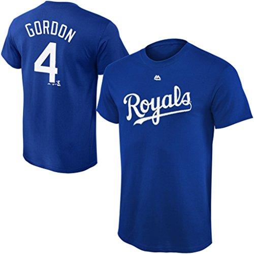 VF Kansas City Royals MLB Majestic Alex Gordon Player Shirt Royal Blue Big & Tall Sizes (2XT)