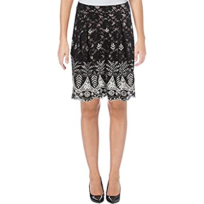 Ivanka Trump Womens Lace Above Knee A-Line Skirt
