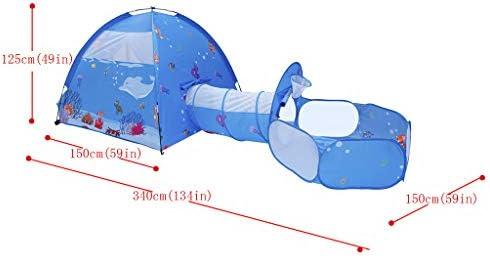 WSXX Túnel para Tienda de campaña, Bola de Billar, Tres Piezas, Juguete para niños, casa de Juegos, Interior, Exterior, niño y niña: Amazon.es: Hogar
