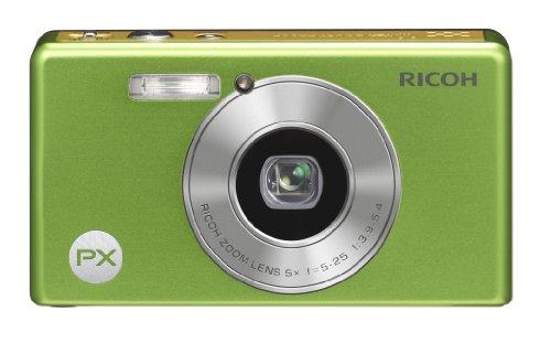 Ricoh PX Digital Resistente al agua cámara 16MP zoom de 5x pxlg, color verde lima