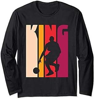 Basketball Player Gift Coach 'Basketball King' Basketball Long Sleeve T-shirt | Size S - 5XL