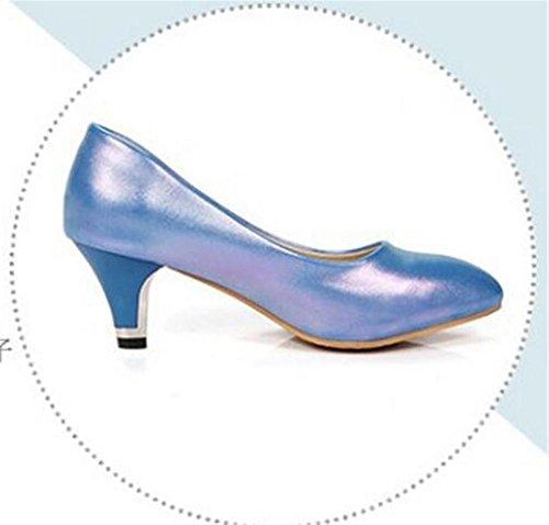 chiuso BLUE 39 le basso dita della Shallow bocca Confortevole 36 svago Court piedi XIE tacco pink dei pattini HWnwtxax