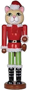"Santa's Workshop Holiday Home Decor 14"" Christmas Cat Nutcracker"