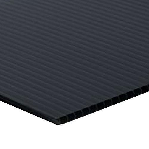 "Wholesale Black Corrugated Plastic Sign Blanks Sheet 4mm x 18"" x 24"" (100 Pack)"