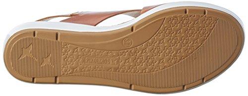 Pikolinos Mykonos W1g_v17, Sandalias con Cuña para Mujer Marrón (Brandy)