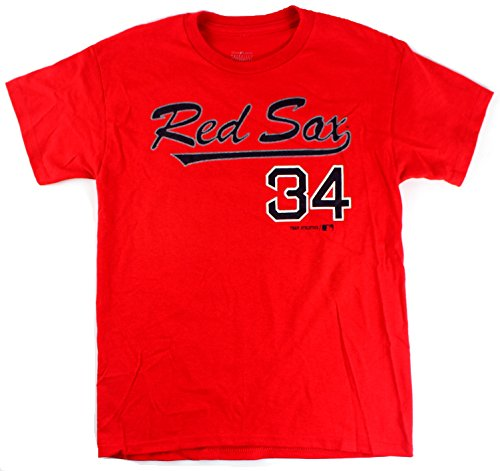 David Ortiz Boston Red Sox #34 Youth Alternate Player T-Shirt Red (Youth Medium 10/12)