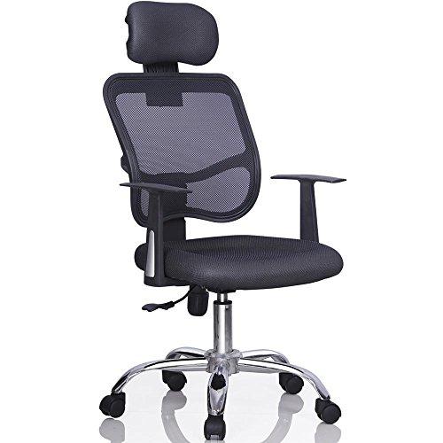 Ergonomic Mesh Computer Office Desk Chair Adjustable Head