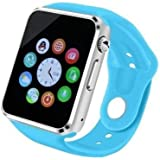 Smart Phone Watch with SIM Card and Memory Card (Bluetooth, Pedometer, Anti-loss, Camera)-Blue