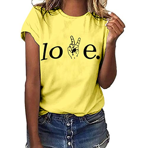 (Claystyle Women's Casual Off Shoulder Tops Short Sleeve and Long Sleeve T Shirts Lose Yellow )
