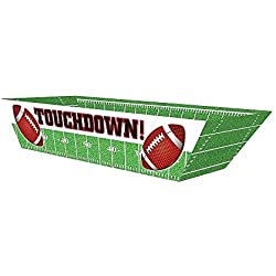 Oojami Touchdown Football Paper Hot Dog Trays,36 Count
