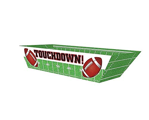 Oojami Touchdown Football Paper Hot Dog Trays,36 -