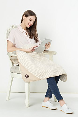 Protective Belly Pregnancy Baby Blanket, Organic, Anti-Radiation, Cream, 35