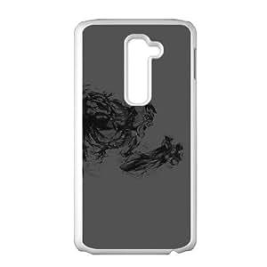 LG G2 Cell Phone Case White aj82 hulk illust anger dark minimal hero art Ixnbi