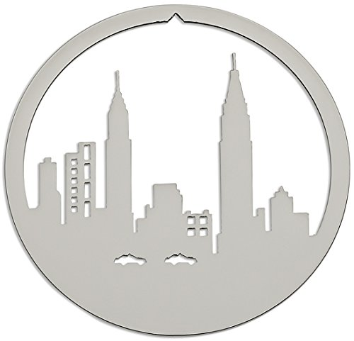 Chrysler and Empire State Buildings Christmas Ornament in New York City by Valerie Atkisson, Polished Nickel