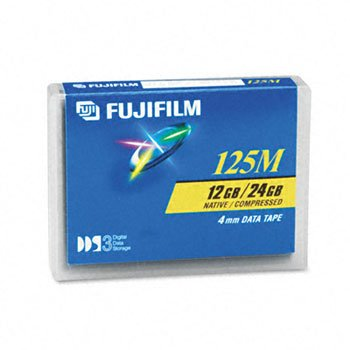Fuji® 1/8 inch Tape DDS Data Cartridge CART,4MM,DDS-3,125M 6807 (Pack of10) by TONERC