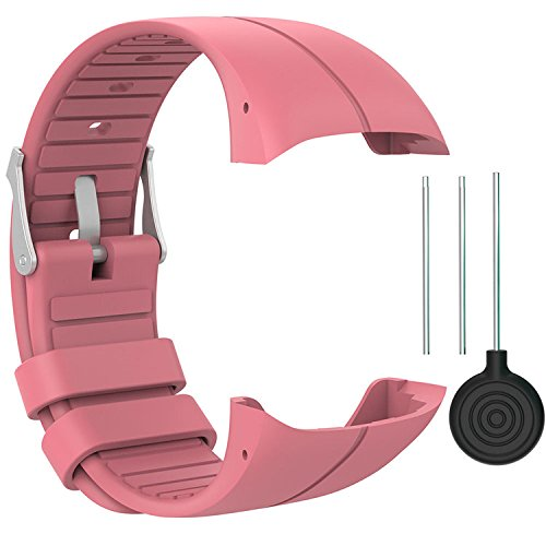 QGHXO Band for Polar M400/M430, Soft Adjustable Silicone Replacement Wrist Watch Band for Polar M400/M430 Watch
