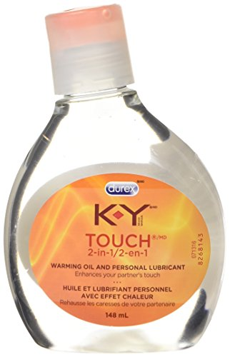 K-Y Touch 2-In-1, Warming Oil Lube and Personal Lubricant, 148 ml