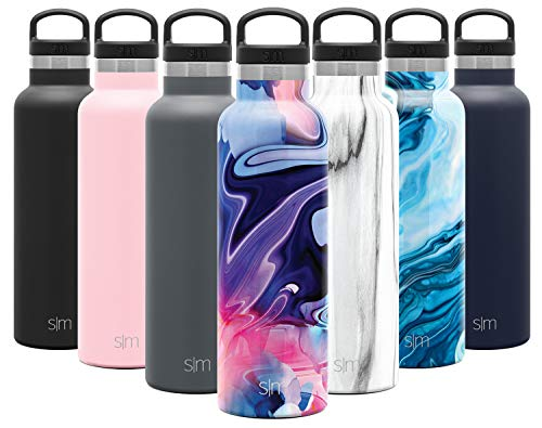 Simple Modern 20oz Ascent Water Bottle - Hydro Vacuum Insulated Tumbler Flask w/Handle Lid - Double Wall Stainless Steel Reusable - Leakproof Pattern: Dreamcicle