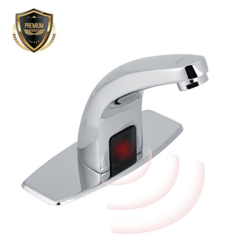 Automatic Infrared Sensor Faucet, Zinc alloy smart Touchless Sink Faucet Kitchen Bathroom Water Tap with Control - Infrared Sensor Faucet