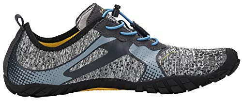 Katliu Trekking Grigio Barefoot Donna Per Corsa Su scarpe Asciugatura Uomo Camminare Naturale Fitness scarpe Rapida Scarpe Strada Palestra Trail scarpe Immersione Da Running Om80vnwN