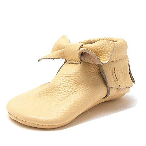 Sayoyo Baby Bow Tassels Soft Sole Leather Infant Toddler Prewalker Shoes (Newborn, Moccasin)
