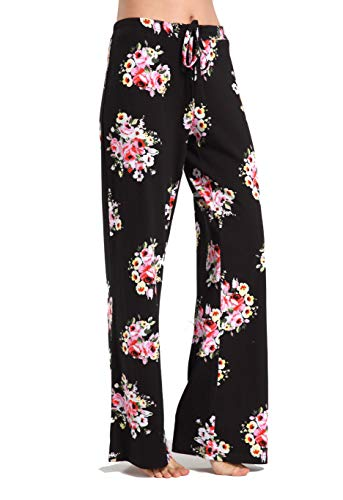 (Aiklik Women's Casual Stretch Cotton Pajama Pants Simple Lounge)