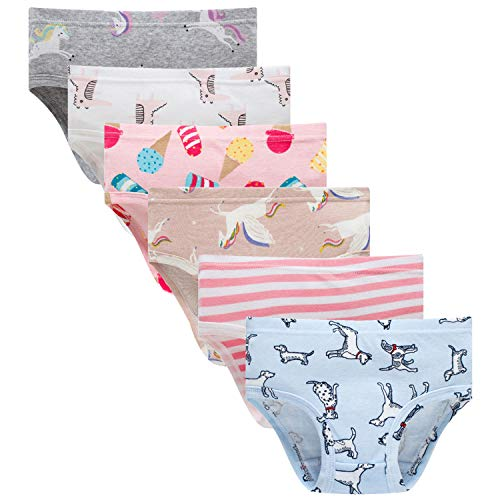 Sladatona Little Girls' Soft Cotton Underwear Bring Cool, Breathable Comfort Experience Panty 3-4t