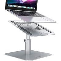 NOVOO Laptop Stand Adjustable Notebook Holder Multi-Angle Height Ventilated Laptop Riser for Desk 360 Rotating…